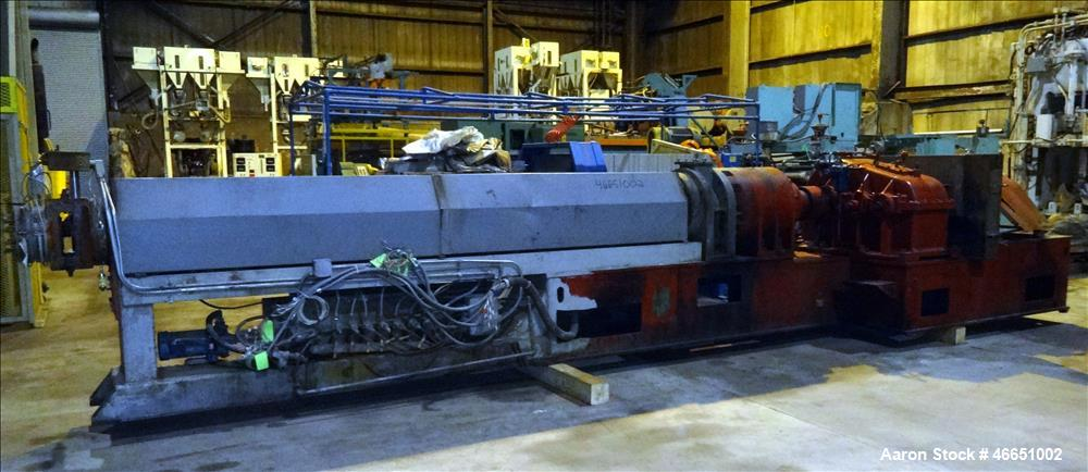 "Used- Egan Machinery 6"" Single Screw Extruder. Approximate 22 to 1 L/D ratio, electrically heated, water cooled 7 zone non-v..."