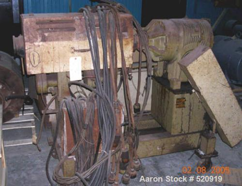 """USED: Egan 1.5"""" extruder, air cooled with 10 hp DC motor, heatcontrol panel."""
