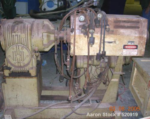 "USED: Egan 1.5"" extruder, air cooled with 10 hp DC motor, heatcontrol panel."