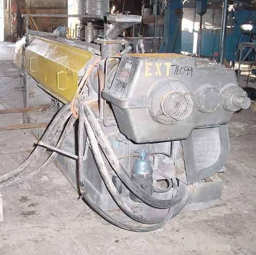 "Used- Egan 3-1/2"" Single Screw Extruder. Approximate 36 to 1 L/D ratio, vented barrel. Electrically heated, air cooled, 7 zo..."
