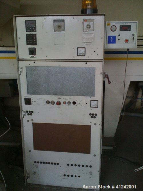 "Used-Eurotechno Single Screw Extruder. 125 mm (4.9"") diameter screw, 55 kW (73 hp) motor, capacity on LDPE or HDPE 150 kg/ho..."