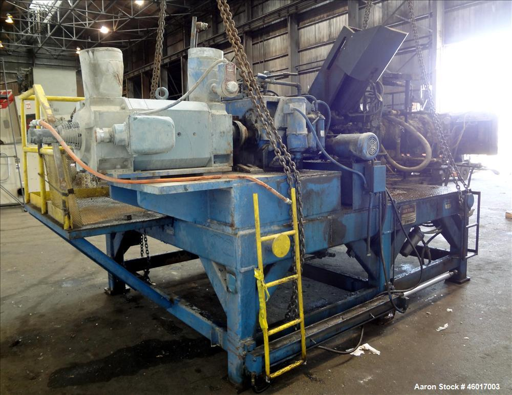 "Used- Farrel 10"" Single Screw Dump Extruder, Model FD575."