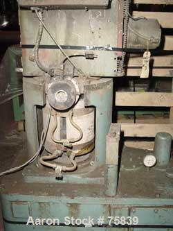 "USED: Gloucester approximate 3 1/2"" single screw vertruder, model 634-101. Vertical design, electrically heated, air cooled,..."