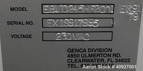"Used- Genca Single Screw Extruder, Model EB 100245HF2001WE9179, 1"" Screw diameter approximate 28:1 L/D ratio, electrically h..."