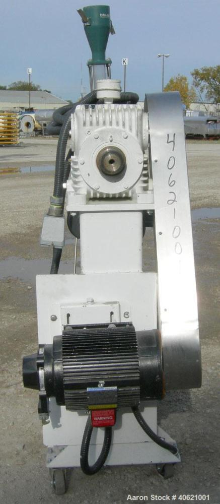 "Used- Genca 1"" Single Screw Extruder, Model GH100-HOH12X1-00, approximately 24 to 1 L/D ratio. Electrically heated, air cool..."