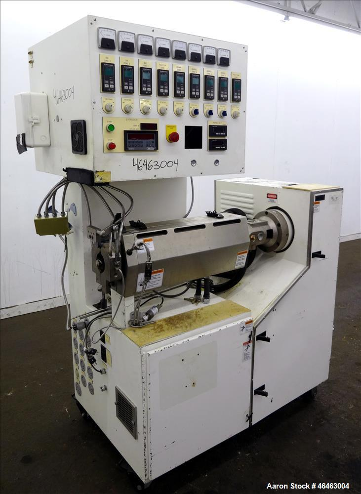 "Used- Genca 1.25"" Single Screw Extruder Model GH125-SABIN97A"