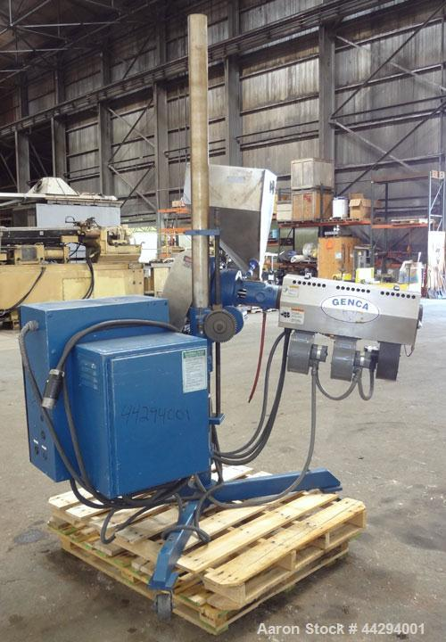 """Used- Genca 1-1/4"""" Single Screw Pedestal Mounted Extruder, Model GV125-24BBS2A00A. Approximately 24 to 1 L/D ratio. Electric..."""