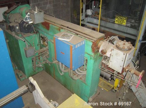 "Used- Gloucester 3-1/2"" Single Screw Extruder, Model 233-001. Approximately 30 to 1 L/D ratio. Electrically heated, water co..."