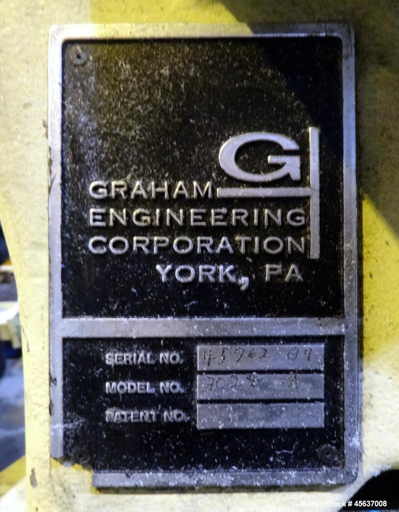 "Used- Graham Engineering 3"" Single Screw Extruder, Model 3024-A."