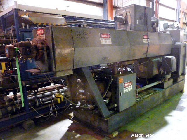 """Used- Graham 4.5"""" Single Screw Extruder. 24 to 1 L/D. 6 Zone non-vented. Has electrically heated, water cooled barrel. Extru..."""