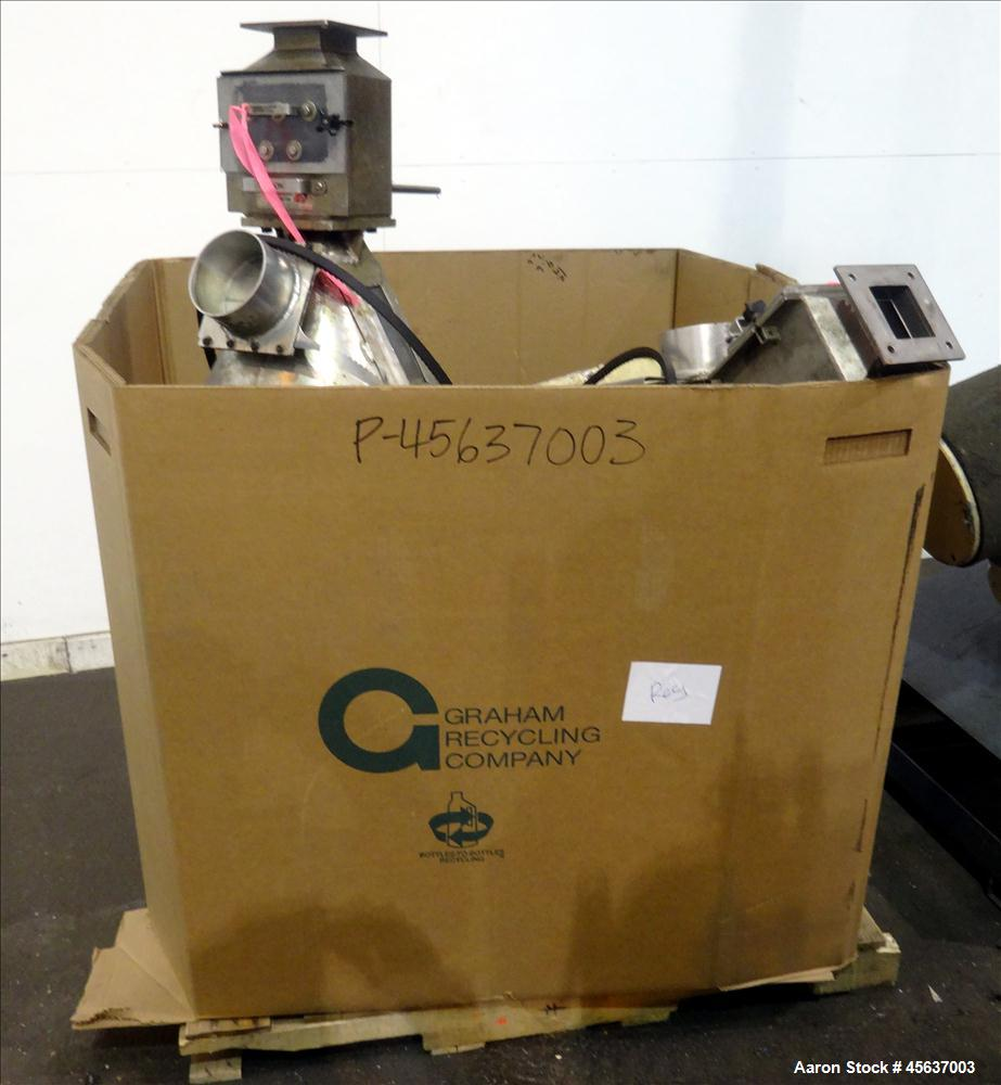 "Used- Graham Engineering 3-1/2"" Single Screw Extruder. 24 to 1 L/D Ratio. Electrically heated, air cooled 5 zone non-vented ..."