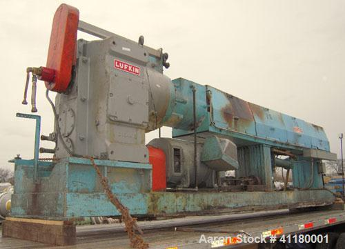 """Used-  Hartig 6"""" Single Screw Extruder. Model 60/100M24, 24:1 L/D Ratio.  7 zone barrel, electrically heated, water cooled w..."""