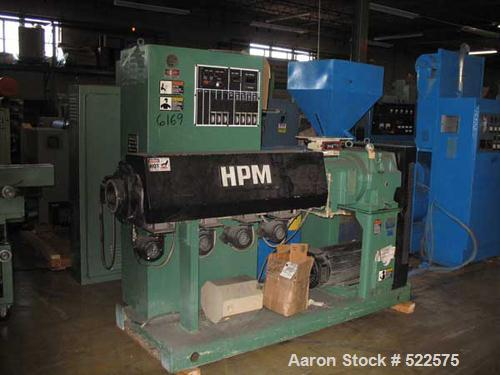 """USED: HPM model 2.5TMC-24 2.5"""" extruder. 24:1 L/D, air cooled non-vented 4 zone barrel, 40 hp continuous duty 2500 rpm DC mo..."""