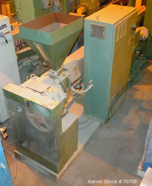 "Used- HPM 2-1/2"" Single Screw Extruder, Model 2.5TMC-24"