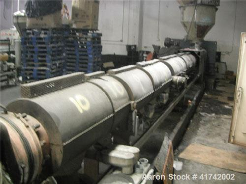 "Used-8"" HPM Southcon Extruder, 2 stage screw, model 8TMK, 40:1 L/D vented, air cooled barrel with 10 fans.  Includes Omron E..."