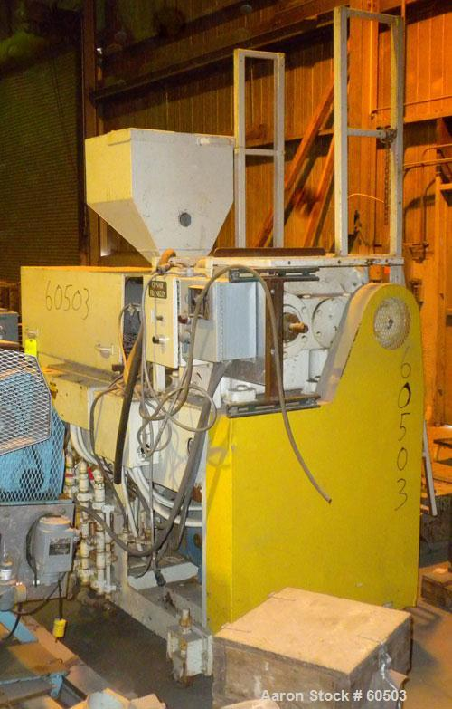 """Used- Johnson 2-1/2"""" Single Screw Extruder, Approximately 20 to 1 L/D Ratio. 3 Zone non-vented barrel electrically heated, w..."""