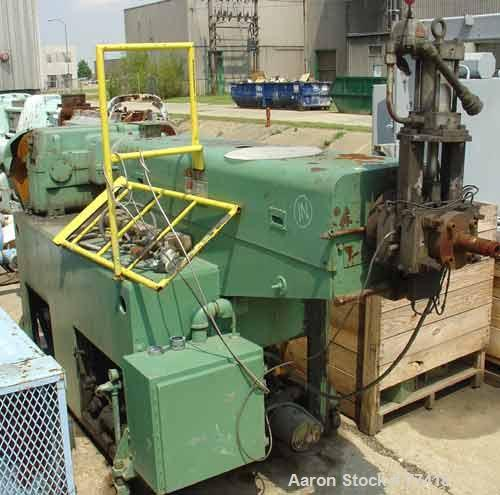 "USED: Johnson Machinery 2-1/2"" single screw extruder, 30:1 L/D ratio. Vented barrel, electrically heated, water cooled, with..."