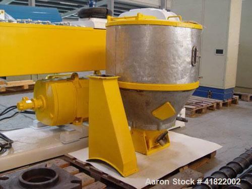 "Used-Kaufman Single Screw Extruder. Diameter 4.5"" (114 mm), L/D 34, 147 hp/110 kW DC drive, barrel with a lateral degassing,..."