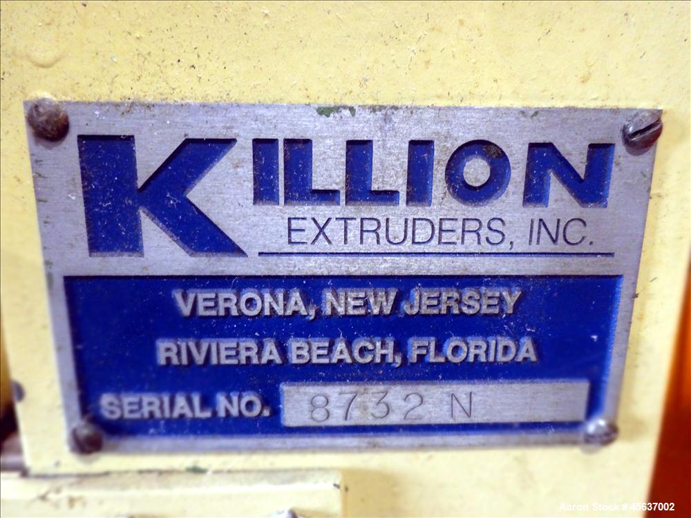 "Used- Killion 1.25"" Pedestal Mounted Single Screw Extruder"