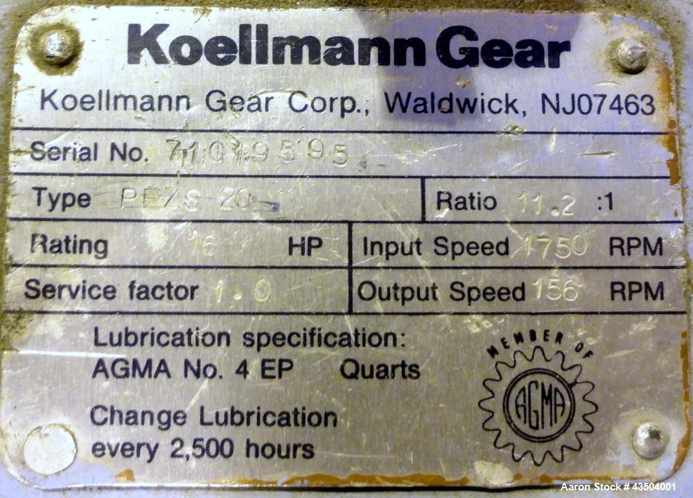 """Used- Killion 1.5"""" Single Screw Extruder, Model KN-150"""
