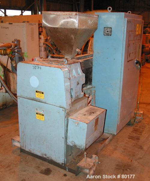 """USED: Killian 2.5"""" extruder, model KN-250. 24:1 L/D ratio, 4 zone, electrically heated, air cooled barrel, 4"""" x 3"""" feed thro..."""