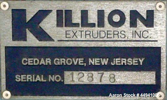 "Used- Killion 1.5"" Diameter Single Screw Extruder, Model KN150"