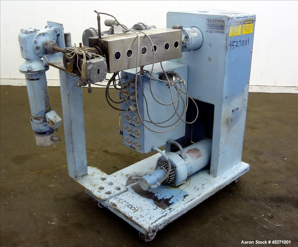 "Used- Killion 1"" Single Screw Extruder, no screw"