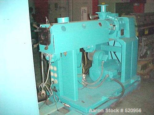 """USED: 2"""" Killion 24:1 L/D vented extruder. Has 25 hp Powertecbrushless DC motor with SCR control. Includes 5 zone temperatur..."""