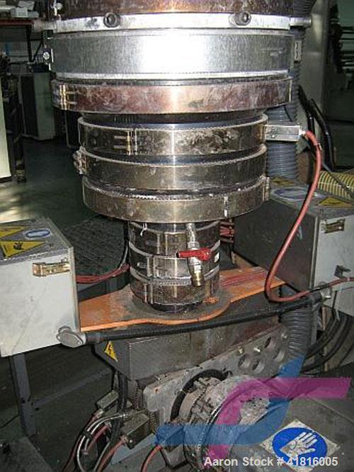 "Used-Tecom E75/30S Single Screw Extruder for LDPE, HDPE, PP.  Screw diameter 3"" (75 mm), L/D ratio 30:1, maximum output 400 ..."