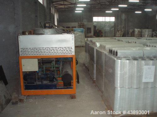 Used-EH 9025/R2 Lenzing Horizontal Extruder for LDPE, LLDPE, HDPE, PP.  Maximum capacity 440 lbs (200 kg), L/D 25:1, main mo...