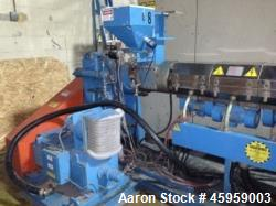 "Used- Bausano Extruder, Model SD 90.33. 33:1 L/D, 3.5"" Barrel. 7 Zone air cooled, ABB motor, Model DMP 180-4."