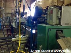"Used- Hartig Non-Vented Extruder. 4.5"" screw and barrel diameter. 11' long screw. 30:1 LD Ratio. Air Cooler. 150 hp US Motor..."