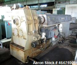 Used-OMV / Cincinnati Milacron 120 MM Single Screw Extruder, Model EXD-120. Approximately 34:1 L/D, electrically heated, wat...
