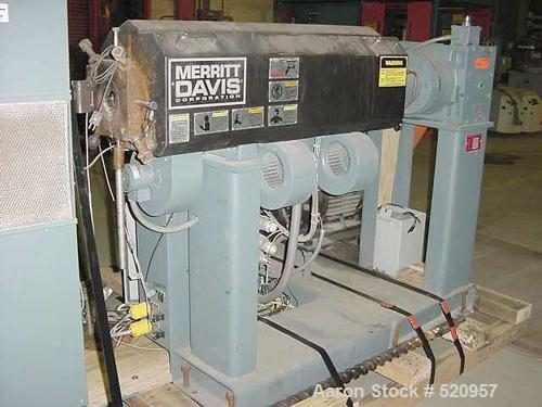 "USED: 2"" Merritt Davis 24:1 L/D non-vented, electrically heated, aircooled extruder. Equipped with 25 hp AC motor including ..."
