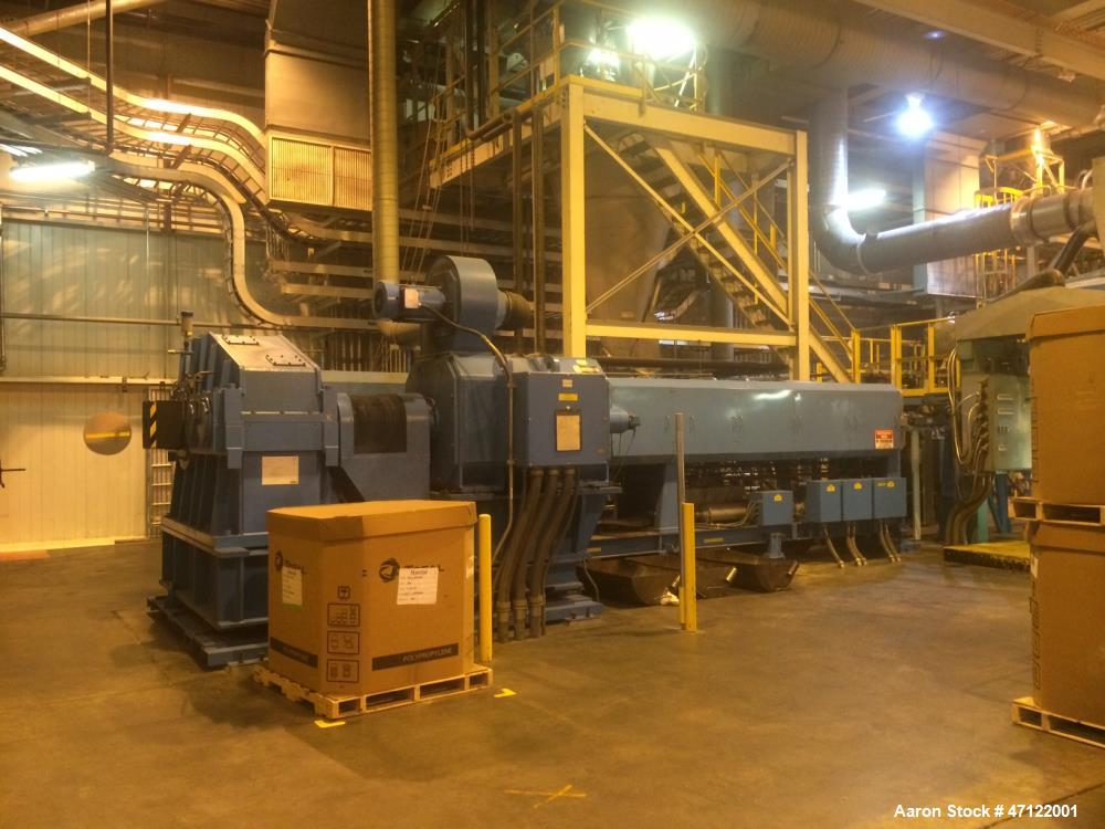 Used- Mitsubishi Heavy Industries Tandem Extruders. Max: 9500 PPH. Operating: 8250 PPH. Consists of: Primary Extruder, Model...