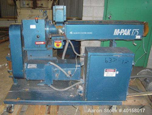 "Used- Akron 1 3/4"" Single Screw Extruder, Model M-PAK175, approximate 24 to 1 L/D ratio. Electrically heated, air cooled 3 z..."