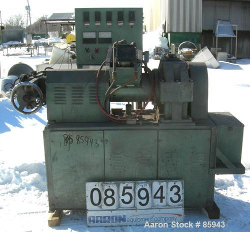 "Used- Munchy 4"" Tapered to 2"" Single Screw Extruder, Approximate 8:1 L/D Ratio. Electrically heated, air cooled, non-vented ..."