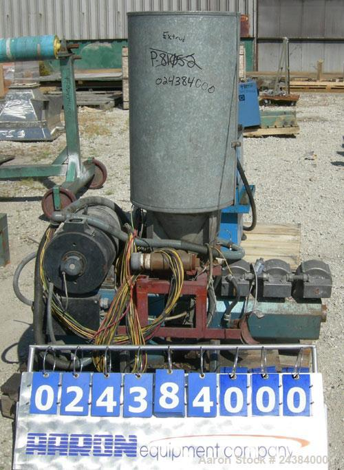 "Used- Baughan Stroud 1"" Diameter Single Screw Extruder, Model 3500/CL. Approximately 24:1 L/D ratio. 3 zone non-vented barre..."