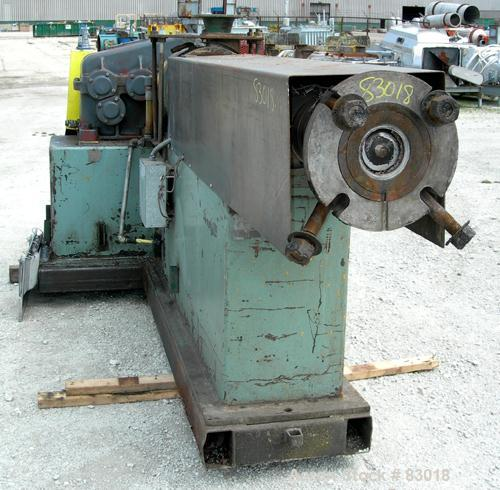 """USED: 4.5"""" Single Screw Extruder, approximate 22:1 L/D ratio. Electrically heated, air cooled non-vented barrel. Water coole..."""
