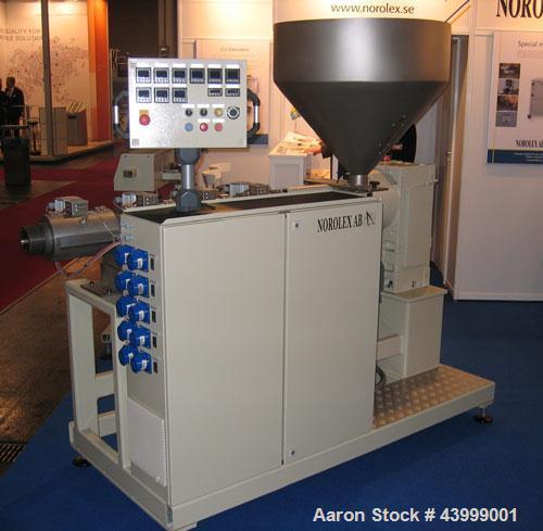 "Unused-Norolex Utilis SSE60 Single Screw Extruder. 2.36"" (60 mm) screw, L/D 25, screw speed 120 rpm. 40 Hp/30 kW drive, 400/..."