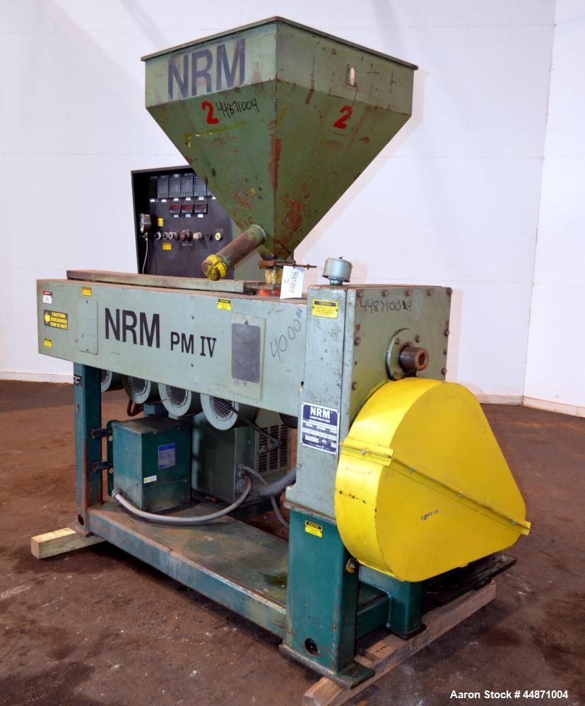 "Used- NRM Pacemaker IV 2-1/2"" Single Screw Extruder, Model 2.5-24.1-PMIV-NV-EX"