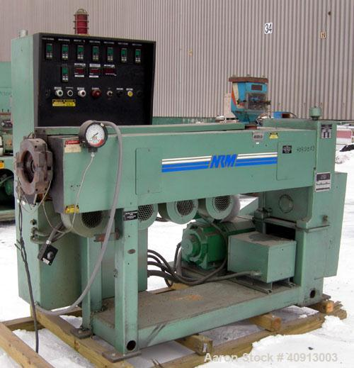 "Used- NRM 2 1/2"" Single Screw Extruder, Model 2.5-24:1 PMIVRH/ACNVTD. Approximate 24:1 L/D ratio. Eletrically heated, air co..."