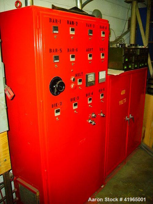 """Used-NRM Pacemaker 70 Extruder, 4.5"""", 24:1, ratio 17.42:1. Reliance matched motor, Fincor 3120M drive, 480 volt, 400 amps, v..."""