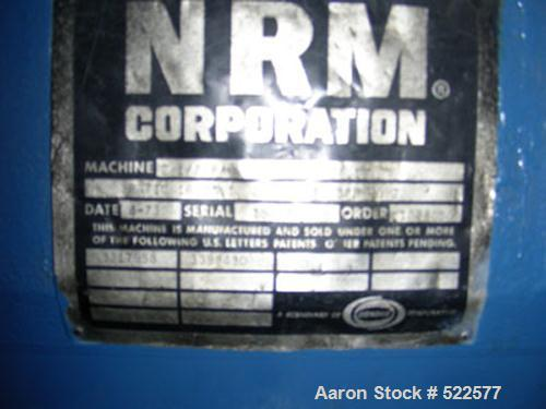 "USED: NRM Pacemaker III 2.5"" extruder. SO #102805, 24:1 L/D, 40 hp, 1750 rpm DC motor into a 16.93:1 belt driven gearbox, 4 ..."