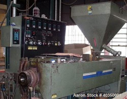 """Used-NRM 2.5"""" Single Screw Extruder, model PM IV. 2.5"""" screw diameter, 24:1 L/D ratio, electrically heated, air cooled, non-..."""
