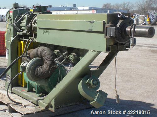 """Used- NRM Pacemaker 2-1/2"""" Single Screw Extruder. Approximately 24 to 1 L/D ratio. Electrically heated, air cooled 3 zone no..."""