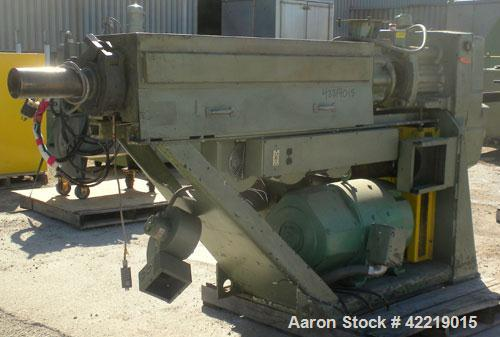 "Used- NRM Pacemaker 2-1/2"" Single Screw Extruder. Approximately 24 to 1 L/D ratio. Electrically heated, air cooled 3 zone no..."
