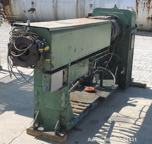 "USED- NRM Pacemaker 3-1/2"" Single Screw Extruder, 24:1 L/D ratio. Electrically heated, water cooled (no system), 5 zone non-..."