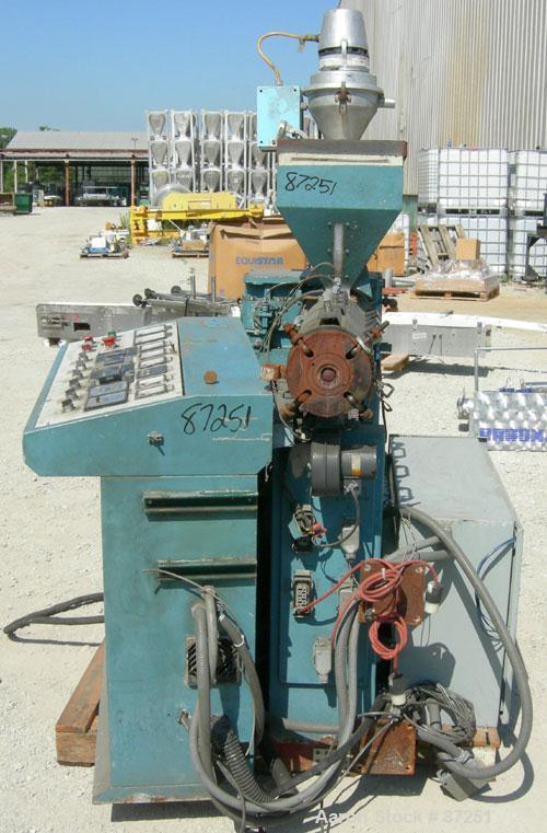 "Used- Plastiprogram 1.3"" Single Screw Extruder, Model RS35"