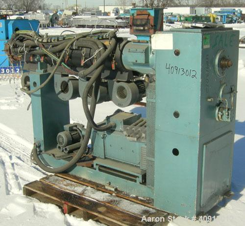 "Used- Plastiprogram 2 1/2"" Single Screw Extruder, Model RS65E, Type R1:25. Approximate 24:1 L/D ratio. Electically heated, a..."